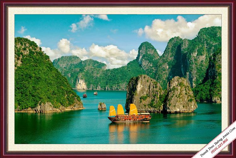 tranh phong canh que huong ha long tuoi dep