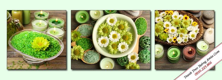 tranh hoa cuc treo tuong spa dep