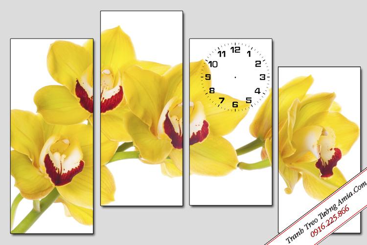 tranh hoa lan no phu quy treo tuong phong thuy