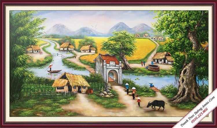 tranh treo tuong phong canh dep que huong