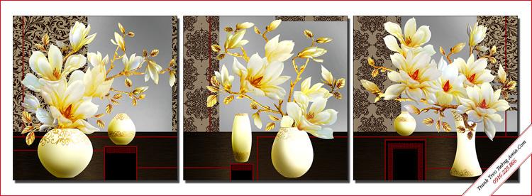 tranh treo tuong binh hoa moc lan phu quy