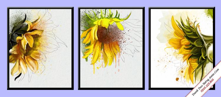 tranh treo tuong hoa huong duong nghe thuat