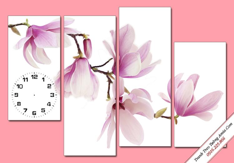 tranh nhanh hoa moc lan trang tri phong