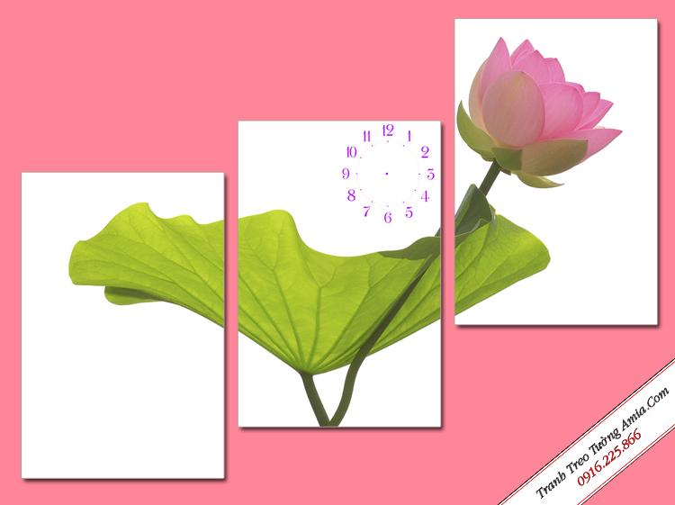tranh treo tuong hoa sen hong ghep bo