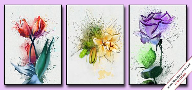 tranh treo phong khach hoa nghe thuat