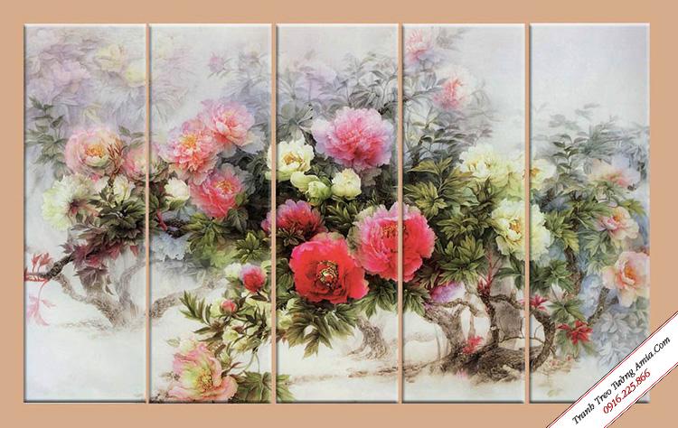 tranh hoa mau don phong cach vintage