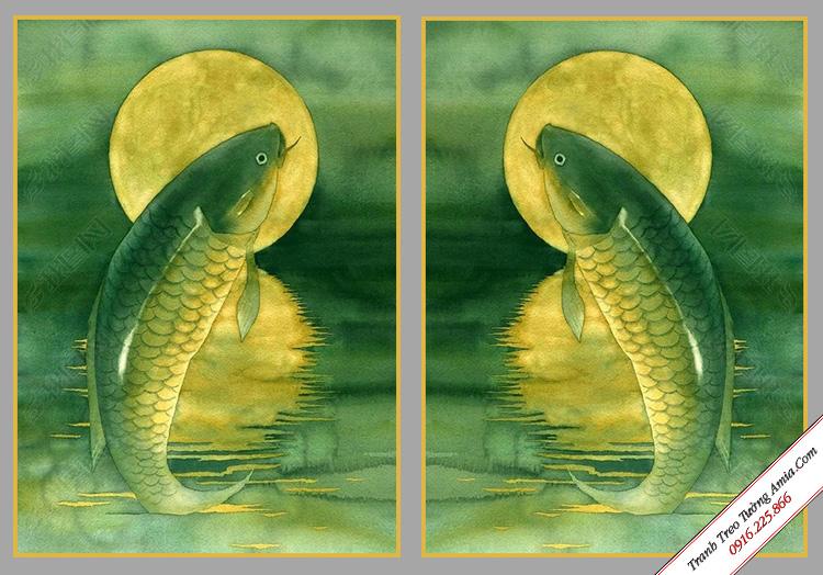 tranh treo tuong phong khach ly ngu vong nguye