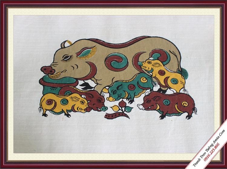 tranh phong thuy hop tuoi mao dan lon am duong