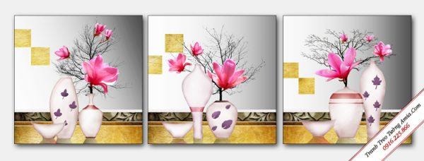 tranh treo tuong dep binh hoa moc lan