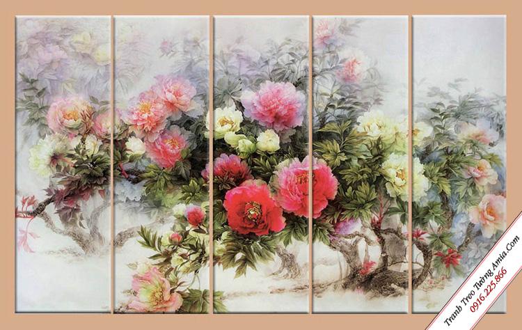 tranh phong thuy hoa mau don trang tri phong ngu