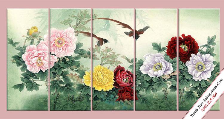 tranh hoa mau don trang tri phong ngu dep treo tuong