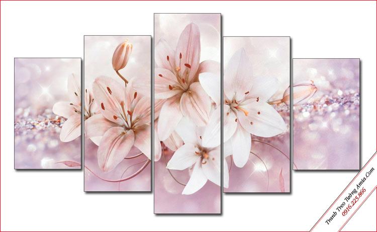 bo tranh hoa ly treo tuong phong ngu dep