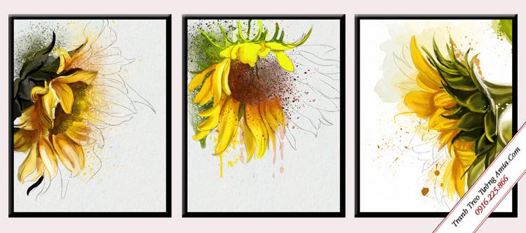 tranh hoa huong duong phong cach scandinavian