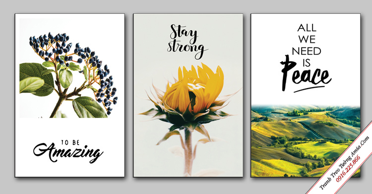 tranh scandinavian hoa nghe thuat treo phong khach