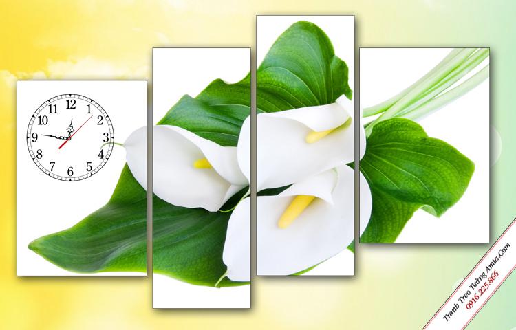 tranh trang tri hoa zum trang dep treo tuong phong ngu