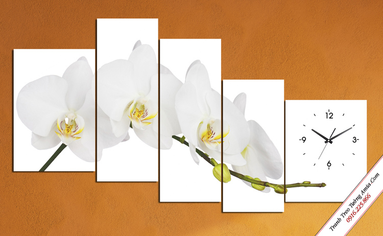 tranh treo phong ngu con gai nhanh hoa lan trang