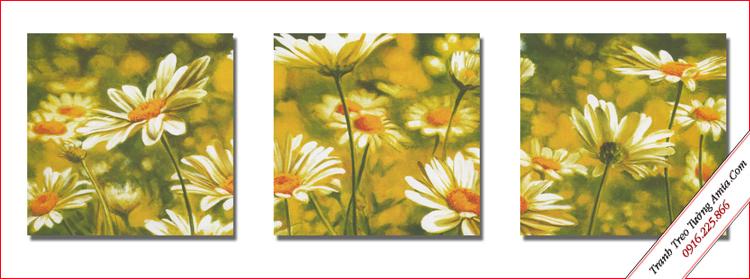 tranh treo phong ngu gia re hoa cuc hoa mi
