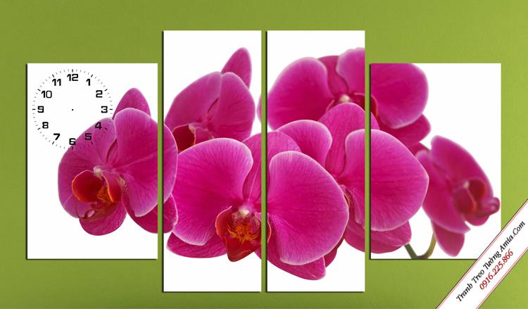 tranh treo tuong phong ngu hoa lan tim