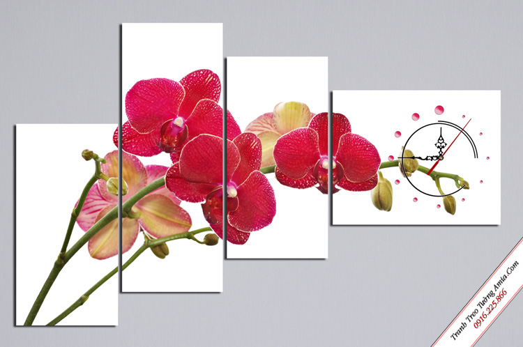 tranh hoa lan treo phong ngu ghep bo cach dieu
