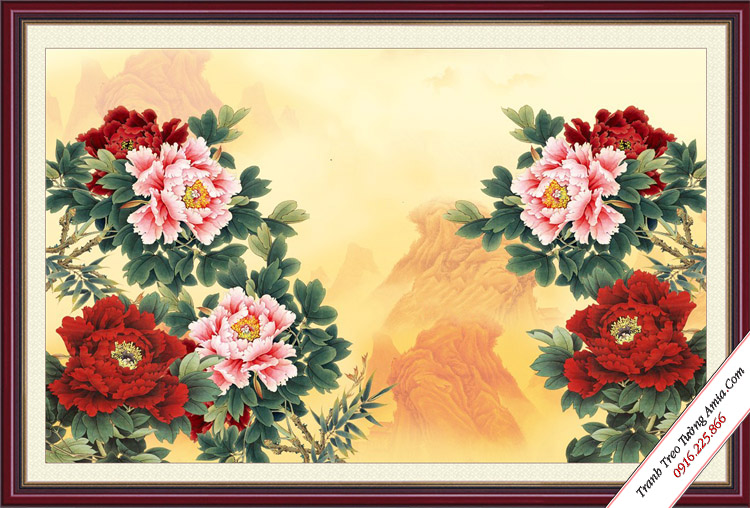 tranh hoa mau don phong thuy lam qua ky niem ngay cuoi