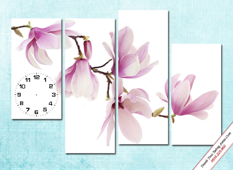 tranh treo tuong nhanh hoa moc lan trang tri
