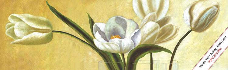 tranh tulip treo tuong phong ngu nghe thuat