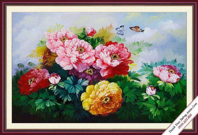 nguoi menh hoa treo tranh hoa mau don