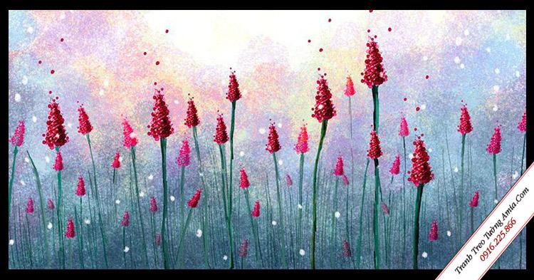 tranh vai canvas hoa bay trong gio treo tuong dep