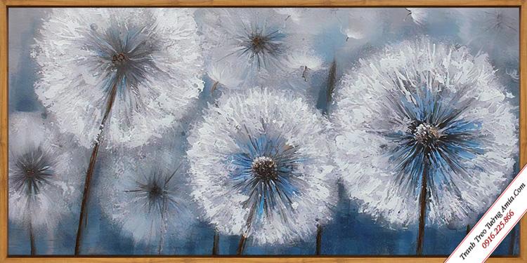 tranh canvas hoa bo cong anh trong gio treo tuong