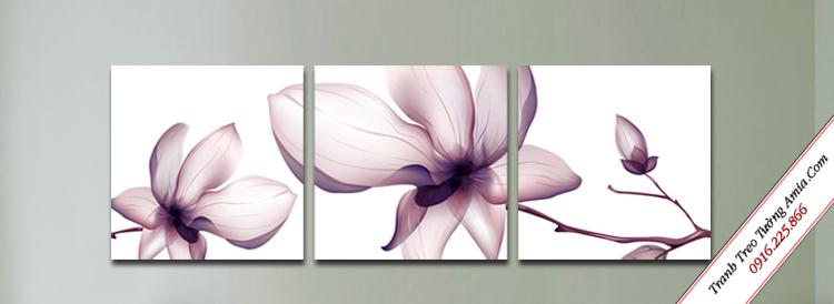 tranh hoa xray treo tuong cau thang
