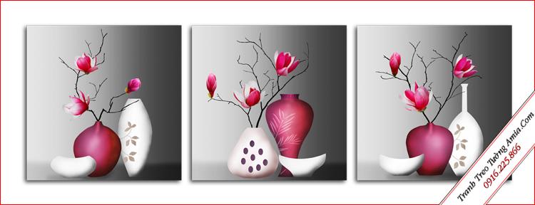tranh treo tuong binh hoa moc lan