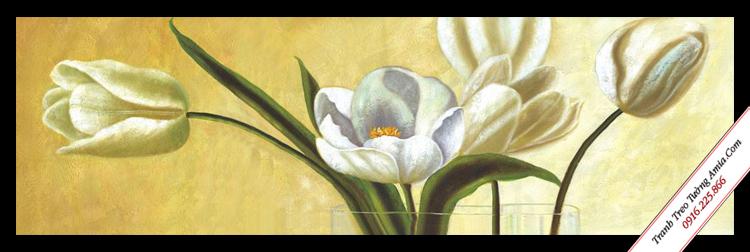 tranh hoa trang treo tuong in canvas