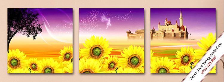 tranh treo tuong lau dai hoa huong duong