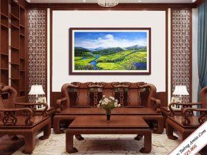 tranh treo tuong phong canh ruong bac thang