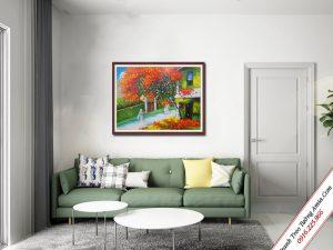 tranh treo tuong ve son dau pho co