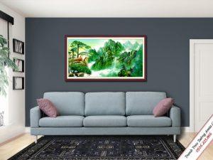 tranh treo tuong phong canh song nui hung vi