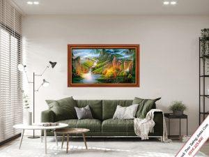 tranh treo tuong son thuy nui doi hung vi