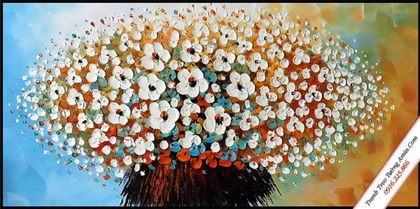 khung tranh go treo tuong binh hoa mai trang