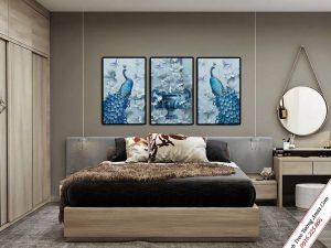 tranh treo tuong phong ngu doi chim cong binh hoa