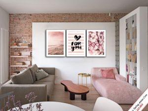 tranh canvas treo tuong hoa hong tinh yeu