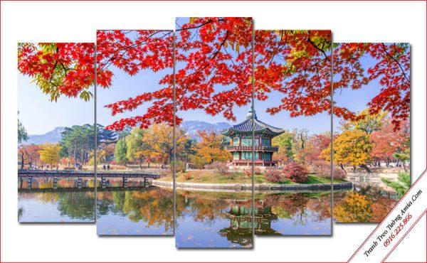 tranh phong canh cung dien Gyeongbokgung han quoc