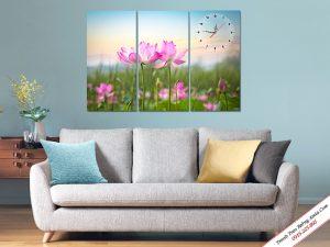 Tranh hoa sen ghép bộ treo tường đẹp ý nghĩa Amia 297