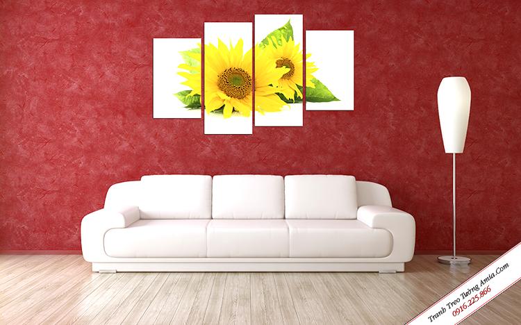 tranh trang tri hoa huong duong treo tuong dep