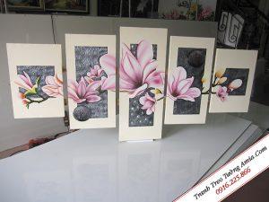 Tranh vẽ hoa mộc lan treo tường đẹp Amia TSD 248