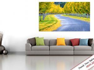 Tranh treo tường phong cảnh mùa thu Amia 340