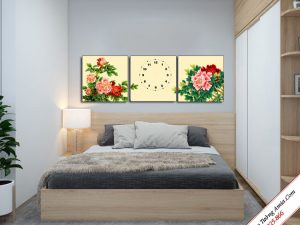 tranh trang tri hoa mau don phong thuy ghep bo