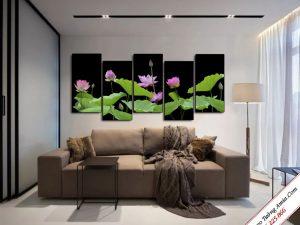 tranh treo phong khach kho lon hoa sen treo tuong