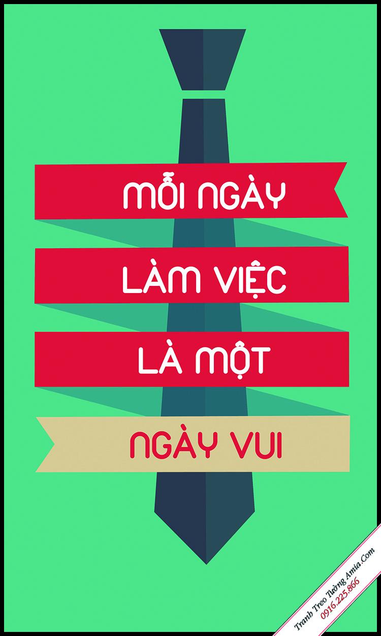 slogan van phong lam viec mang tong mau xanh la