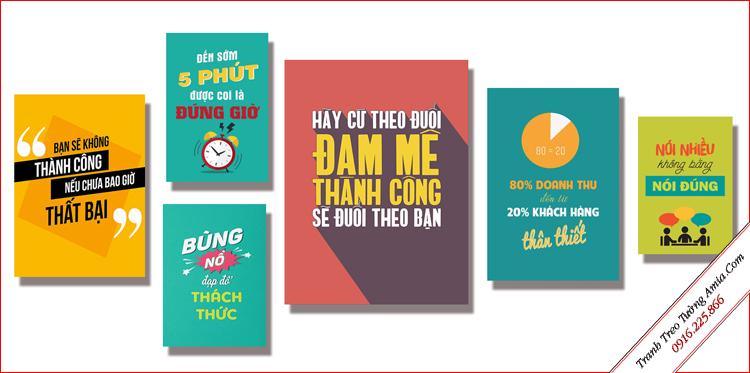 tranh canvas slogan treo tuong cong ty van phong