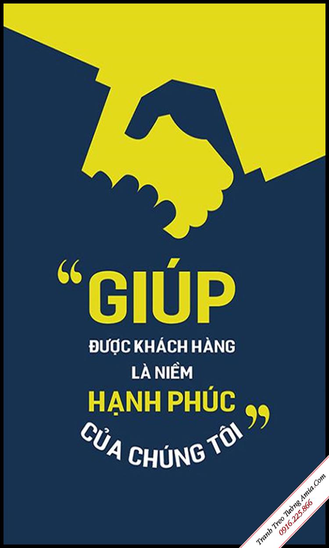 tranh chu slogan treo cong ty van phong cua hang